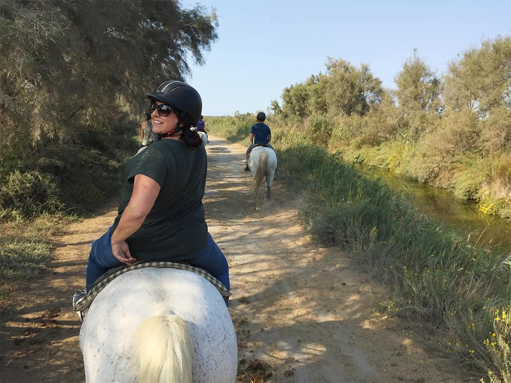 Riding horses in the Camargue